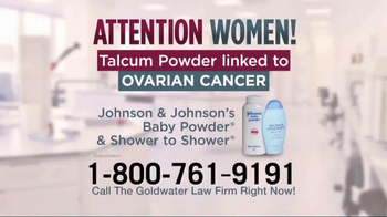 Goldwater Law Firm TV Spot, 'Talcum Powder: Ovarian Cancer' - Thumbnail 2