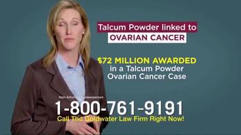 Goldwater Law Firm TV Spot, 'Talcum Powder: Ovarian Cancer' - Thumbnail 4