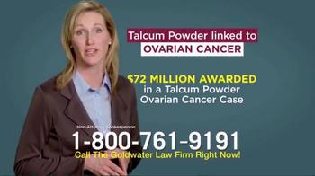 Goldwater Law Firm TV Spot, 'Talcum Powder: Ovarian Cancer' - Thumbnail 5