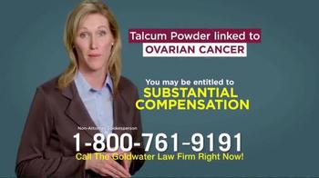 Goldwater Law Firm TV Spot, 'Talcum Powder: Ovarian Cancer' - Thumbnail 6