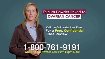 Goldwater Law Firm TV Spot, 'Talcum Powder: Ovarian Cancer' - Thumbnail 9