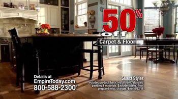 Empire Today 50/50/50 Sale TV Spot, 'Won't Last Long'