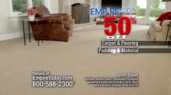 Empire Today 50/50/50 Sale TV Spot, 'Won't Last Long' - Thumbnail 5