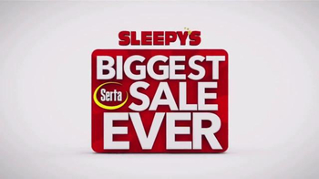 Sleepy's Biggest Serta Sale Ever TV Spot, 'Entire Selection' - Thumbnail 2