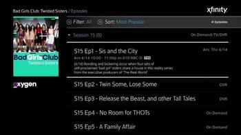 XFINITY X1 TV Spot, 'Oxygen Shows' - Thumbnail 4