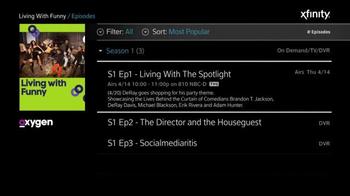XFINITY X1 TV Spot, 'Oxygen Shows' - Thumbnail 6