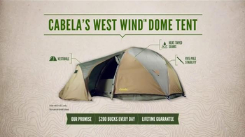 Cabela's West Wind Dome Tent TV Spot, 'Lake Side Getaway' - Thumbnail 8
