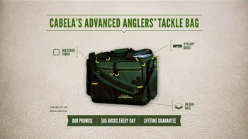 Cabela's Advanced Anglers Tackle Bag TV Spot, 'Bring It All' - Thumbnail 5