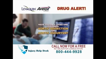 Injury Help Desk TV Spot, 'Levaquin or Avelox' - Thumbnail 1