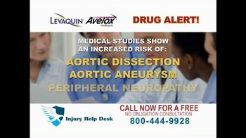 Injury Help Desk TV Spot, 'Levaquin or Avelox' - Thumbnail 2