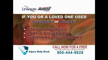 Injury Help Desk TV Spot, 'Levaquin or Avelox' - Thumbnail 3