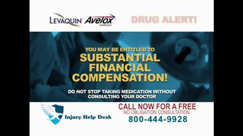 Injury Help Desk TV Spot, 'Levaquin or Avelox' - Thumbnail 4