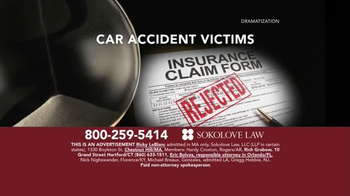Sokolove Law TV Spot, 'Auto Accident Victims' - Thumbnail 3