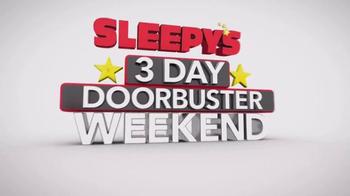 Sleepy's Memorial Holiday Sale TV Spot, '3 Day Doorbuster Weekend'