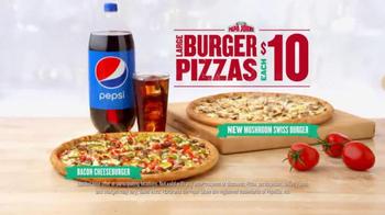 Papa John's Bacon Cheeseburger Pizza TV Spot, 'More Perfect' - Thumbnail 4