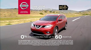 Nissan Safety Today Event TV Spot, '2016 Rogue: Intelligent Safety Shield' - 475 commercial airings