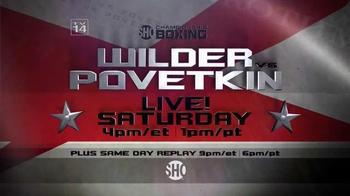 Showtime TV Spot, 'Championship Boxing: Wilder vs. Povetkin' - Thumbnail 9