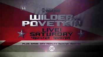 Showtime TV Spot, 'Championship Boxing: Wilder vs. Povetkin' - Thumbnail 8