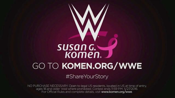 Susan G. Komen for the Cure TV Spot, 'WWE: Share Your Story Contest' - Thumbnail 8