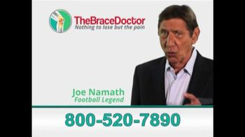 The Brace Doctor TV Spot, 'New Brace' Featuring Joe Namath