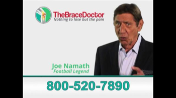 The Brace Doctor TV Spot, 'New Brace' Featuring Joe Namath