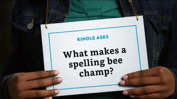 Amazon Kindle TV Spot, 'What Makes a Spelling Bee Champ?' - Thumbnail 1