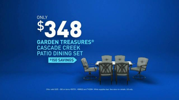 Lowe's TV Spot, 'Make Your Home Happy: Patio Dining Set' - Thumbnail 9