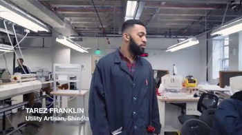 Shinola TV Spot, 'VICELAND: Meet Tarez From Our Leather Team' - Thumbnail 2