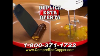 Red Copper Pan TV Spot, 'Liviano y fuerte' con Cathy Mitchell [Spanish] - Thumbnail 7