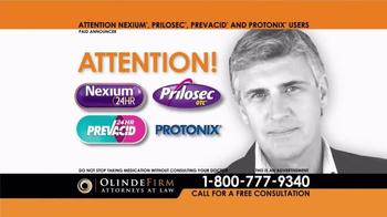 Olinde Firm TV Spot, 'Proton Pump Inhibitors' - Thumbnail 1