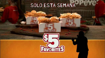 Popeyes $5 Favorites TV Spot, 'Bravo' con Alejandro Patino [Spanish] - 35 commercial airings