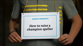 Amazon Kindle TV Spot, 'How to Raise a Champion Speller' - Thumbnail 1