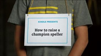 Amazon Kindle TV Spot, 'How to Raise a Champion Speller' - 20 commercial airings