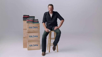 Gildan TV Spot, 'One Big Star' Featuring Blake Shelton - 333 commercial airings