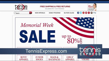 Tennis Express Memorial Day Sale TV Spot, 'Shoes, Apparel and Rackets' - Thumbnail 1