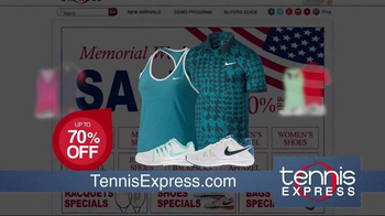 Tennis Express Memorial Day Sale TV Spot, 'Shoes, Apparel and Rackets' - Thumbnail 3