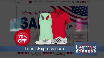 Tennis Express Memorial Day Sale TV Spot, 'Shoes, Apparel and Rackets' - Thumbnail 4