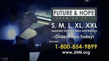 John Hagee Ministries Future & Hope Jeremiah 29:11 Shirt TV Spot, 'Plans'