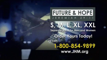 John Hagee Ministries Future & Hope Jeremiah 29:11 Shirt TV Spot, 'Plans' - Thumbnail 5