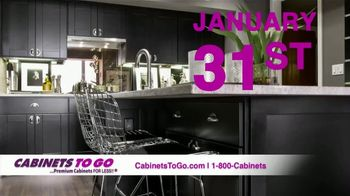 Cabinets To Go TV Spot, 'New Year New Deals!' - 62 commercial airings