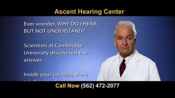 Ascent Hearing Center TV Spot, 'Hear But Don't Understand?' - Thumbnail 2