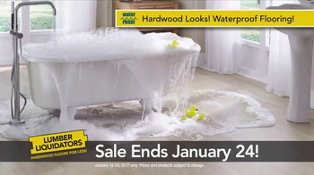 Lumber Liquidators TV Spot, 'Waterproof Hardwood' - Thumbnail 5