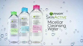 Garnier SkinActive Micellar Cleansing Water TV Spot, 'Morning and Night'