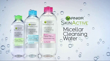 Garnier SkinActive Micellar Cleansing Water TV Spot, 'Morning & Night' - 5219 commercial airings