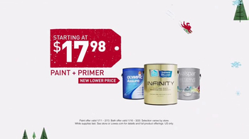 Lowe's Winter Savings Event TV Spot, 'Paint, Primer and Bath Products' - Thumbnail 4