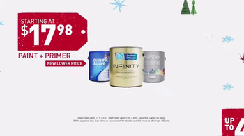 Lowe's Winter Savings Event TV Spot, 'Paint, Primer and Bath Products' - Thumbnail 5