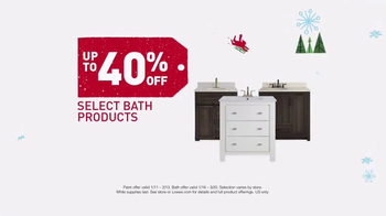 Lowe's Winter Savings Event TV Spot, 'Paint, Primer and Bath Products' - Thumbnail 6