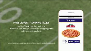 VISA Checkout TV Spot, 'Papa John's: Backup Pizza' Featuring Jay Glazer - Thumbnail 9