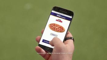 VISA Checkout TV Spot, 'Papa John's: Backup Pizza' Featuring Jay Glazer - Thumbnail 4