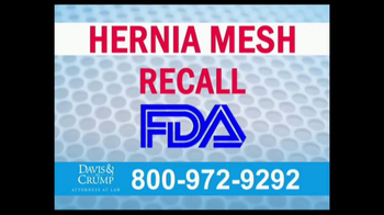 Davis & Crump, P.C. TV Spot, 'Hernia Mesh Complications' - Thumbnail 2